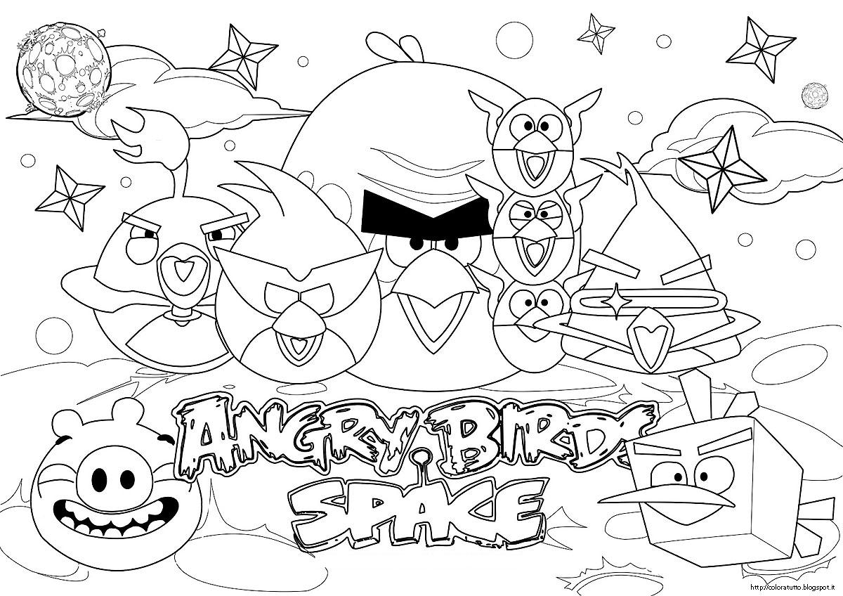 disegni da colorare angry birds star wars