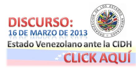 Discurso Estado Venezolano Ante la CIDH