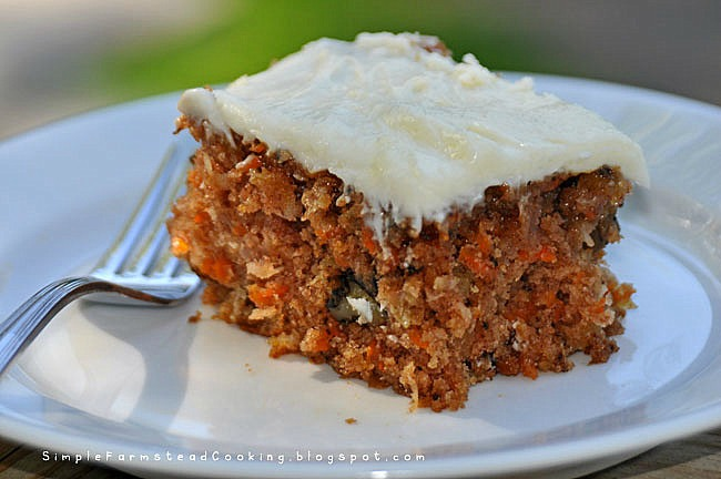 Simple Farmstead Cooking: Super Moist Carrot Cake with ...