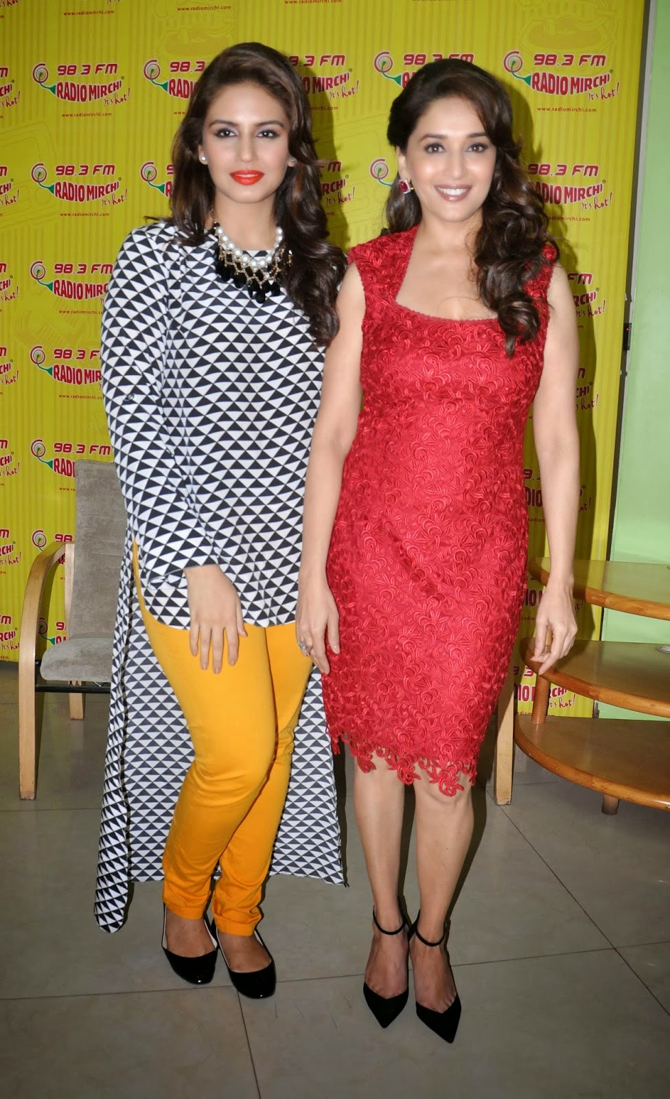 Madhuri Dixit and Huma Qureshi at Promotion Movie event