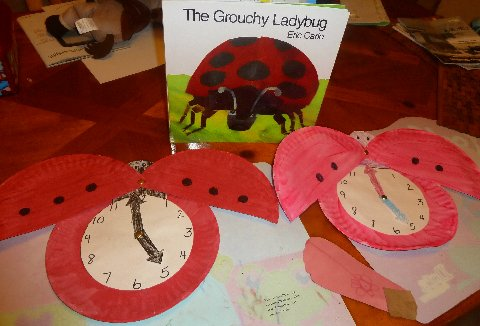 Learning to Tell Time with The Very Grouchy Ladybug & Mom to 2 Posh Lil Divas: Learning to Tell Time with The Very Grouchy ...