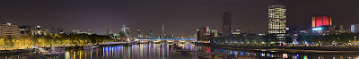 A view from Waterloo Bridge, facing east towards Blackfriars bridge and the City of London. Credit Bloodholds