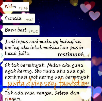 testimoni juwita foundation