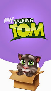 Screenshots of the My talking Tom for Android tablet, phone.