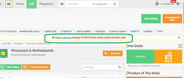 Verified Seller di FJB Kaskus
