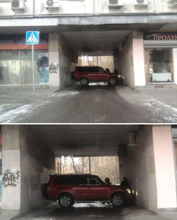 aparcar tunel