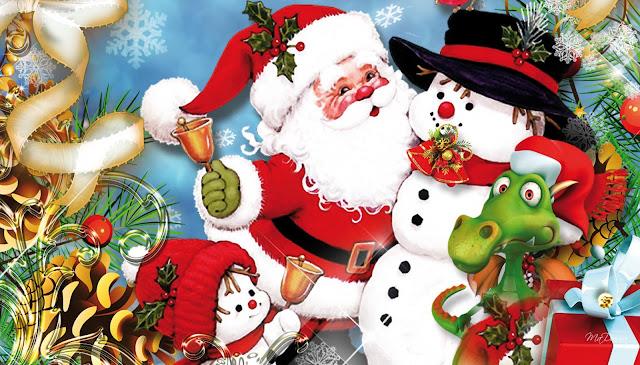 Santa Christmas Friends Merry Christmas images