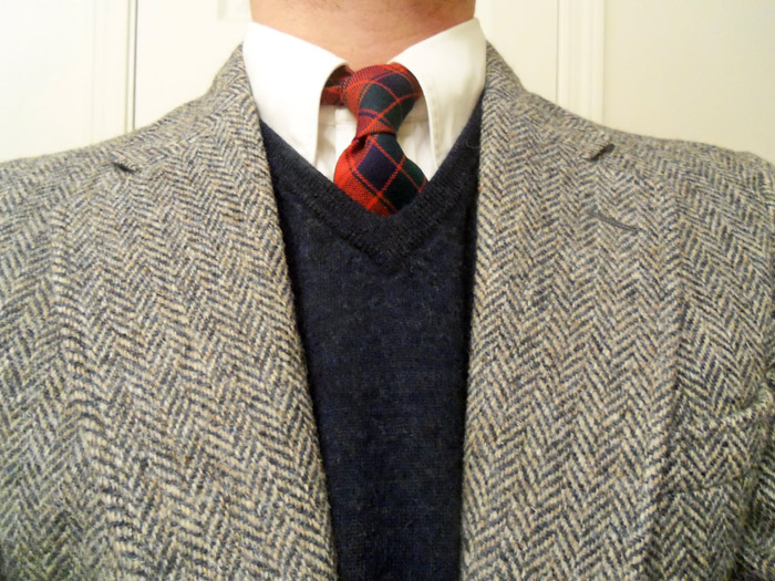 tartan tie and ensemble