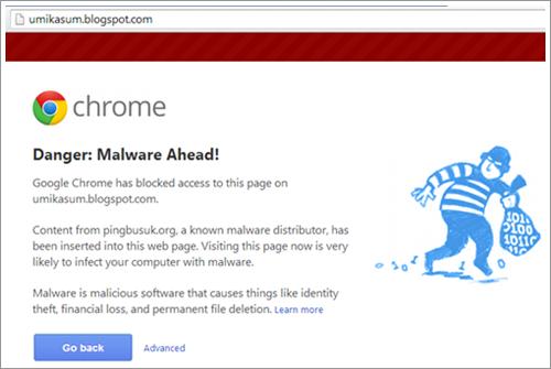 Cara Buang Malware Di Blog, tutorial remove malware dari blog, cara hapus malware, kesan malware pada blog, danger malware ahead, chrome kesan malware pada blog