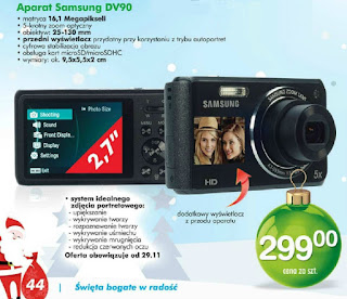Aparat fotograficzny Samsung DV90 z Biedronki ulotka
