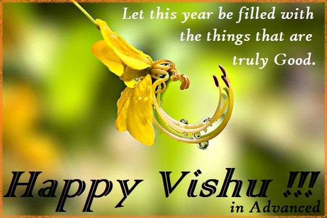 Happy Vishu in Advance, Advanced Happy Vishu Images - Festival Chaska