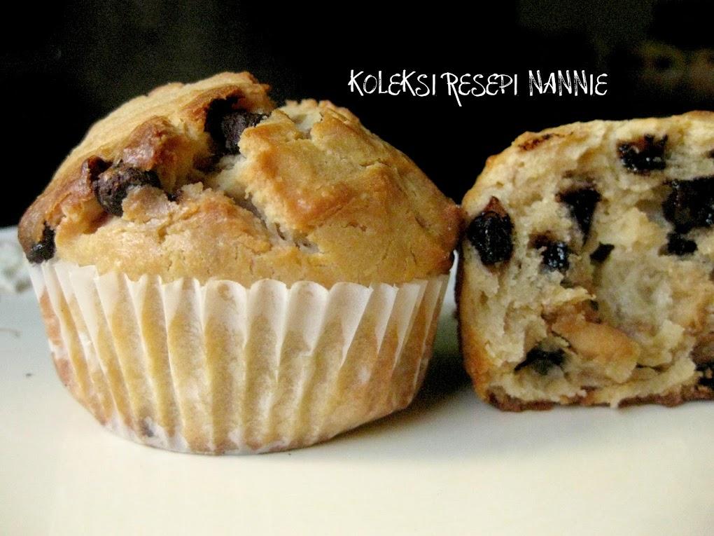 Resepi Muffin Chocolate Chip
