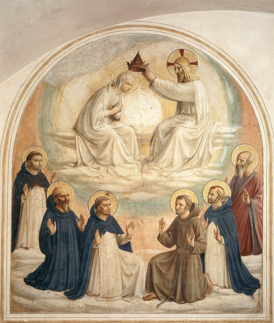 Más clases de arte: Fra Angelico, Fresco de la Coronación de la ...
