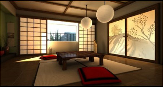 Asian living room design ideas home decorating ideas for Japan home design style