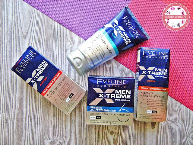 Eveline Cosmetics Men X-treme | Krem nawilżający | Krem regenerujący | Krem głęboko nawilżający | Matujący żel do mycia twarzy