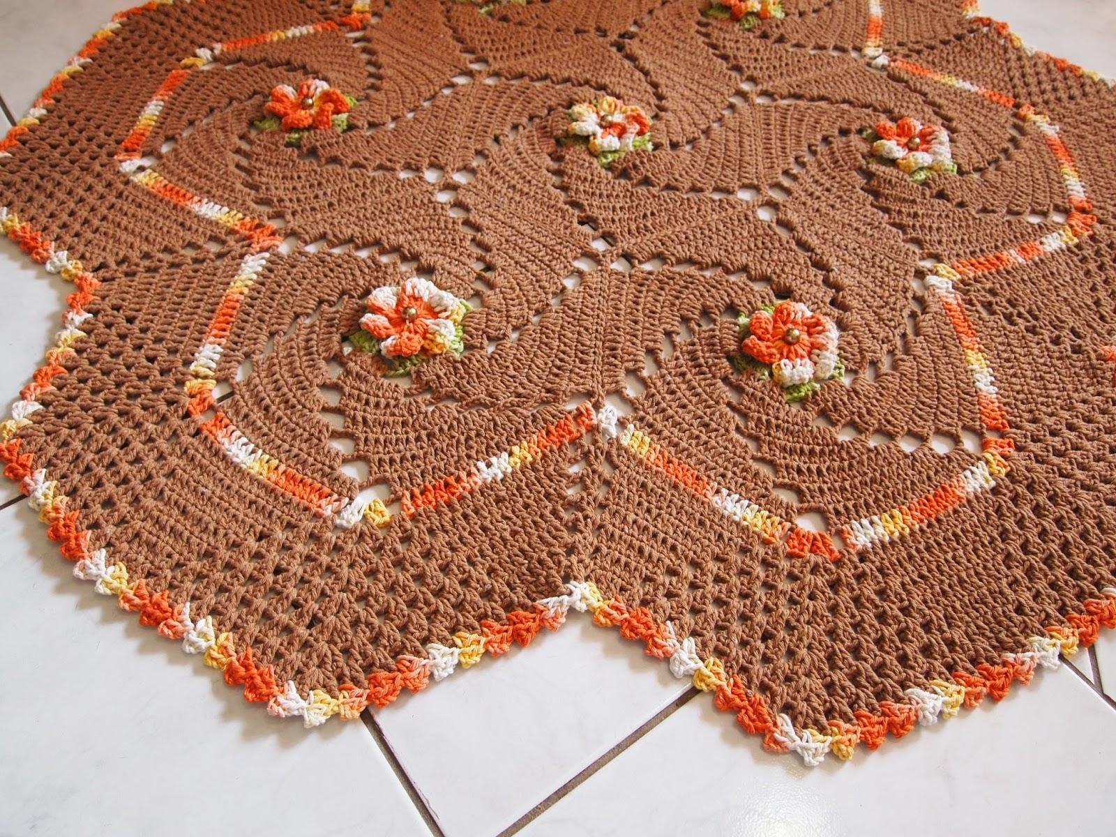 os croches da elsa tapete espiral   modulos cata vento