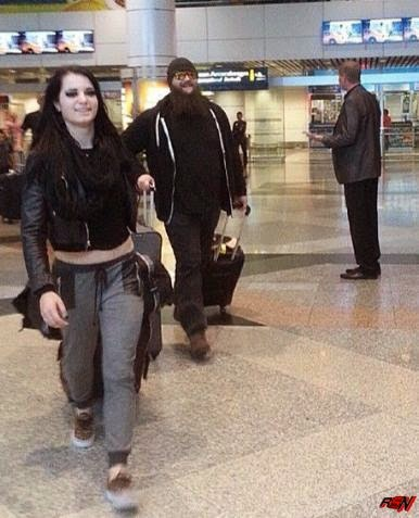 Bray Wyatt and Paige Together At The Airport.