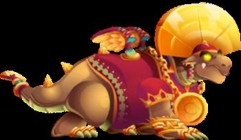 imagen del dragon emperador azteca adulto
