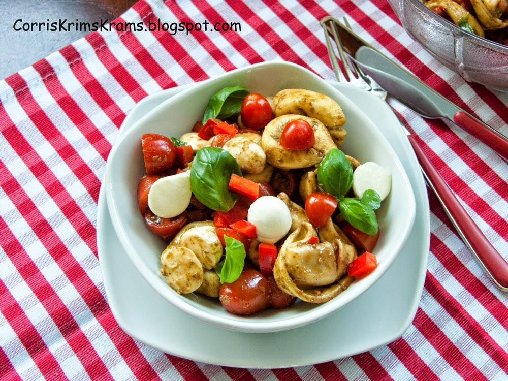Tortellini, Salat, Pesto, Mozzarella, Tomaten, Grillen, Bertolli, Produkttest