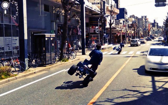 Stunt on google street view
