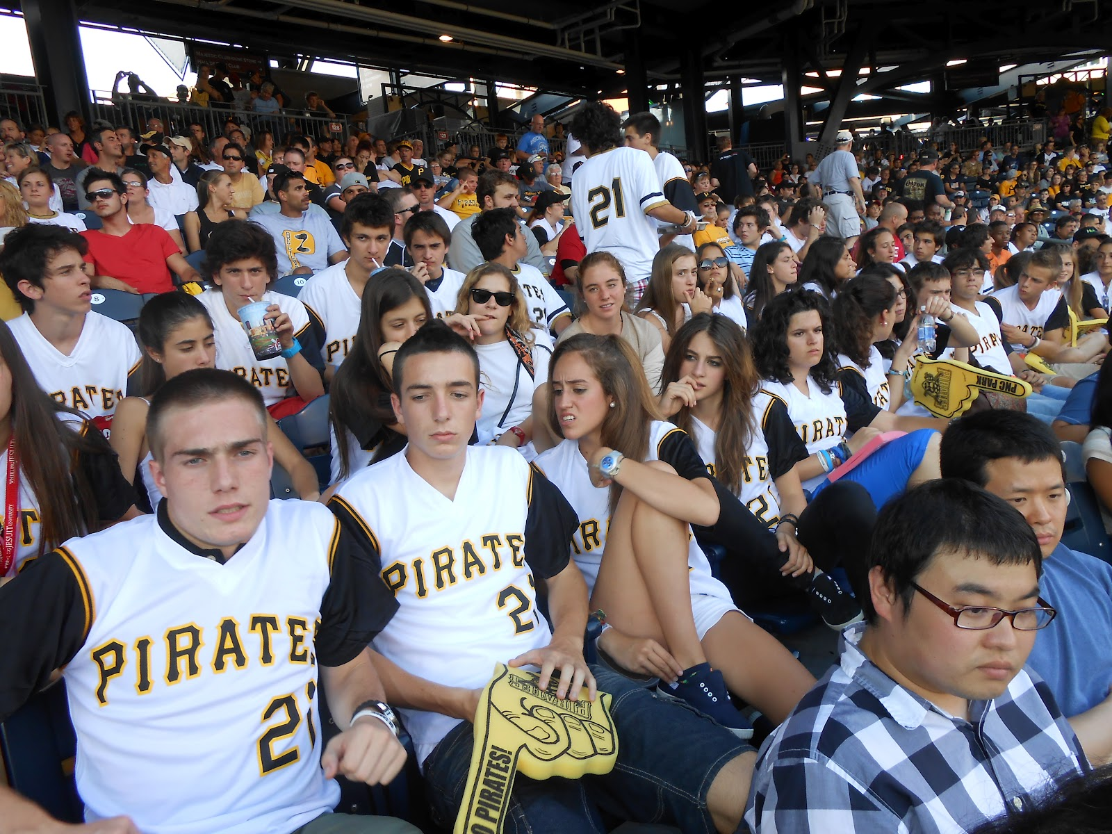 what s new at wju english language institute eli wju summer unfortunately the pirates lost but the student still had a good time rocking out their pittsburgh pirates gear check out the photos
