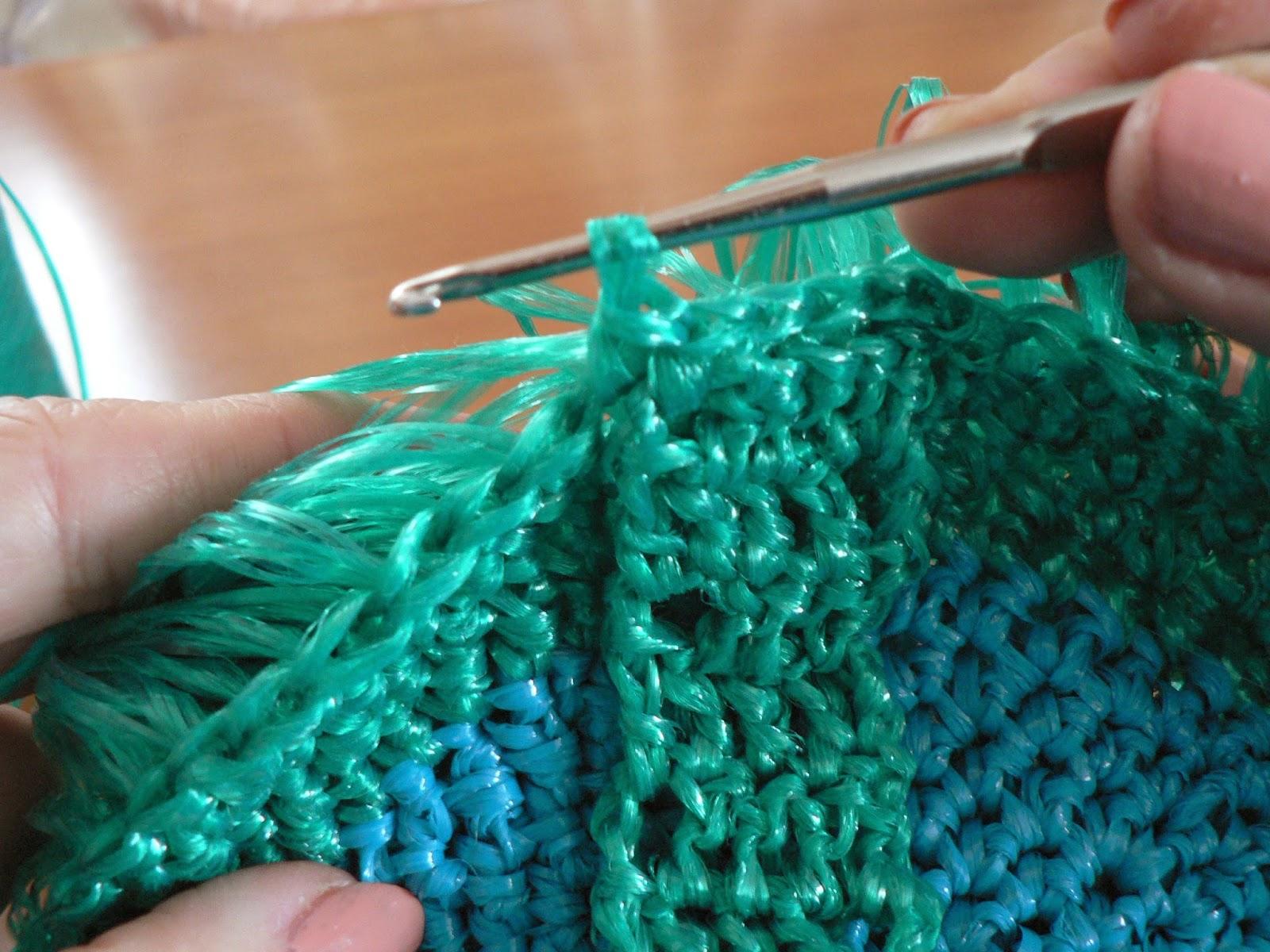 Вязание узоров для мочалок на спицах