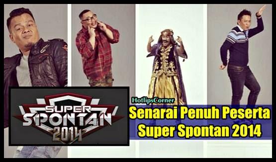 Senarai Penuh Peserta dan Pengacara Super Spontan Musim 3 2014
