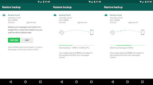 How to Restore WhatsApp Chats, Media using Google Drive