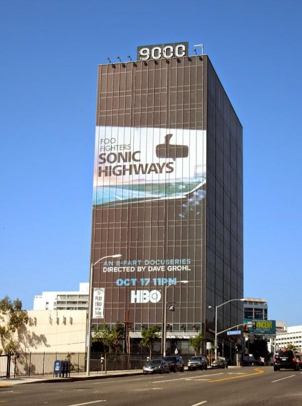 Giant Foo Fighters Sonic Highways HBO billboard