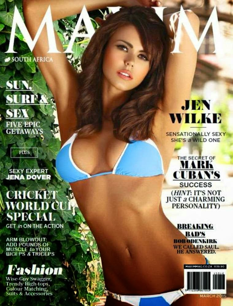 Actress: Jen Wilke for Maxim Magazine South Africa
