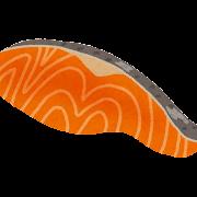 鮭の切り身のイラスト