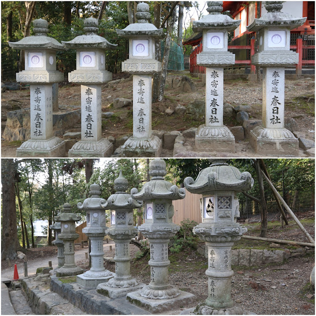 Kasuga Taisa Shrine Temple is famous for its stone lanterns at Nara Park in Japan