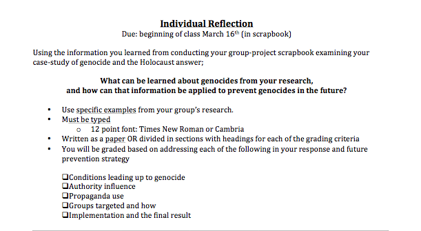 reflection paper on my group project Group work mainly involves research and my original project plan has been to take up the challenge to conclusive reflection on my work at pacific.