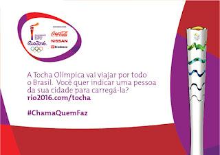 A Tocha olímpica vai passar na sua Cidade. Participe!