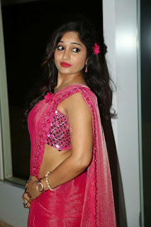 Actress Madhavi Latha Pictures in Pink Saree at Mosagallaku Mosagadu Audio Release Function  2.JPG