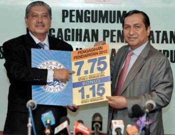 Dividen ASB 2012 Lebih Tinggi