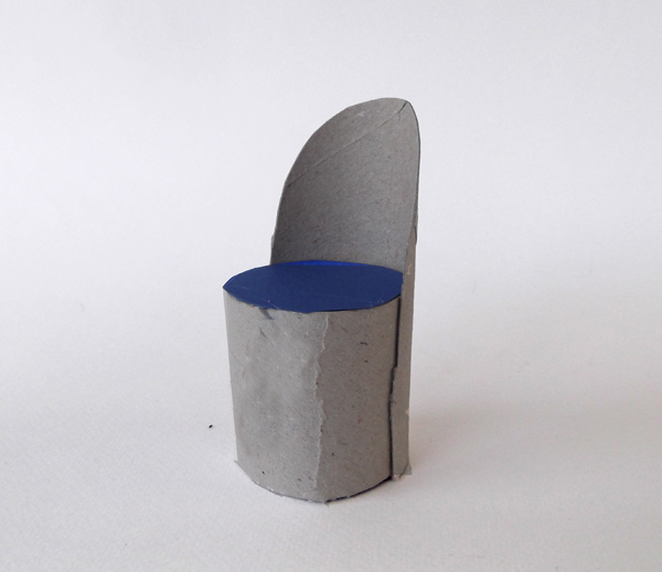 recycled chair, furniture from toilet paper roll, paper roll furniture, roll furniture, paper furniture