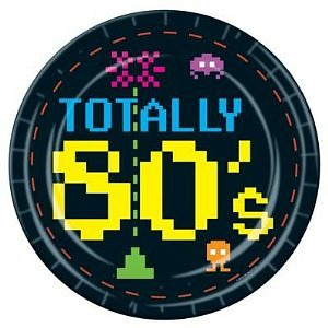 totally 80s paper party plates