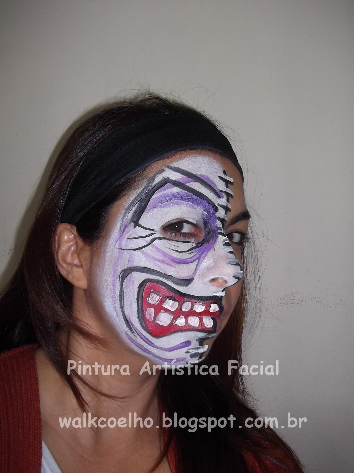 Pinturas de halloween pintura art stica facial wal coelho - Pinturas para halloween ...