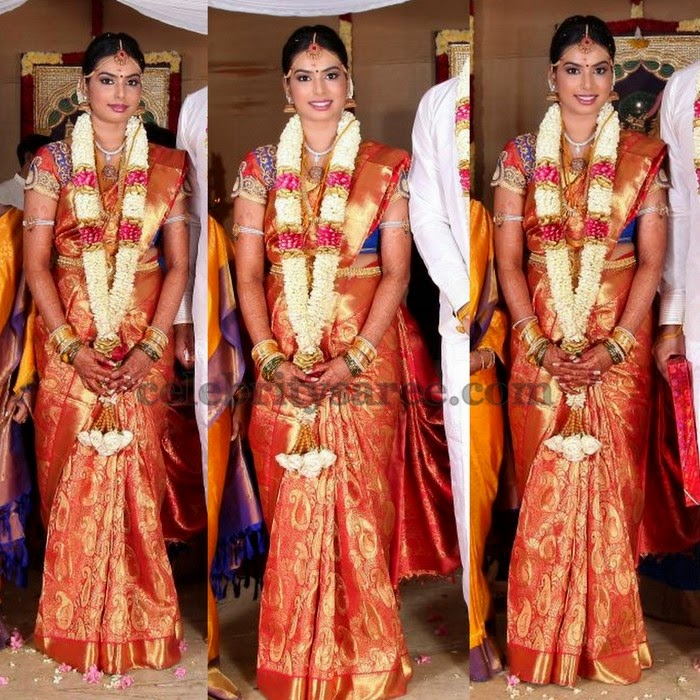 Bride in Kanchi Pattu Saree
