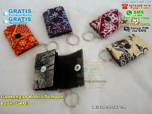 Gantungan Kunci Dompet Karton Kain Batik