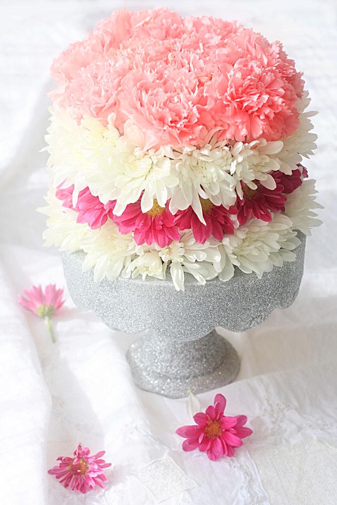 erin's art and gardens: DIY flower cake