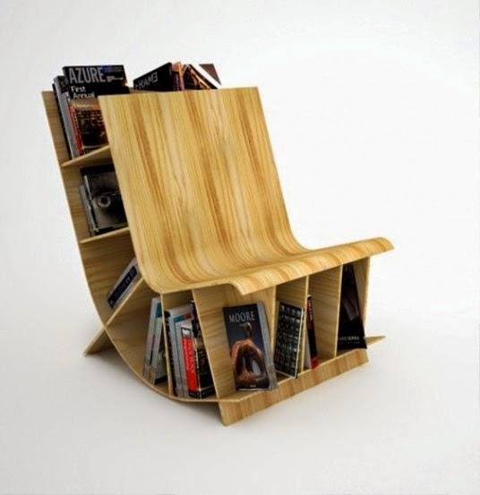 chaise bibliothèque