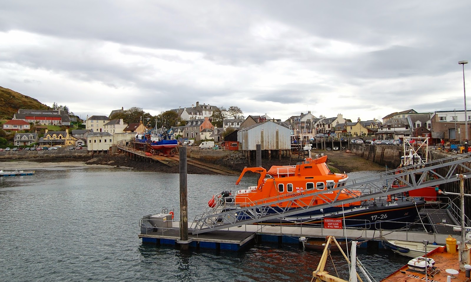 View of Mallaig from the pier