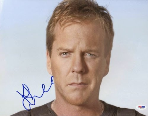 Kiefer Sutherland color autographed photo