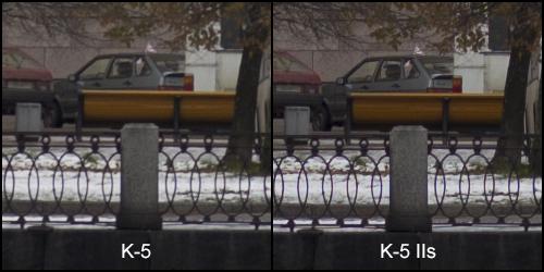 K-5 VS K-5 IIs 100% кроп