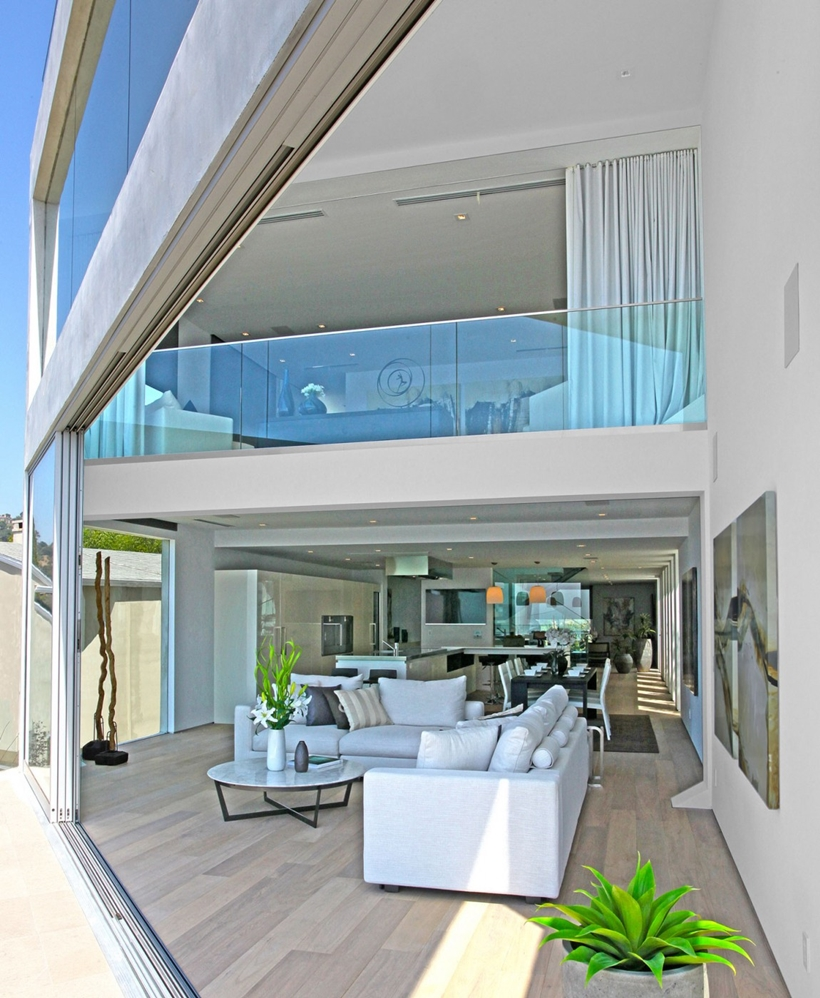 2 floors of Sharp modern home on Sunset Strip