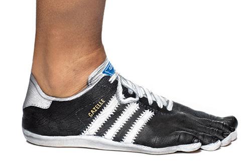 Realistic Shoe Body Paint Illusion Gazelle.jpg