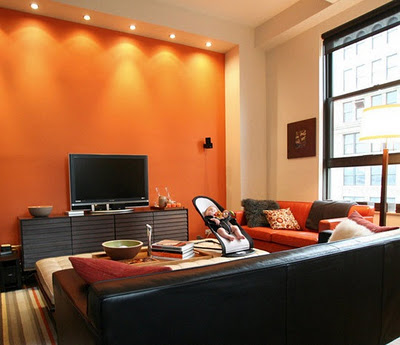 Decora el hogar decoracion de salas en naranja for Decoracion hogar naranja