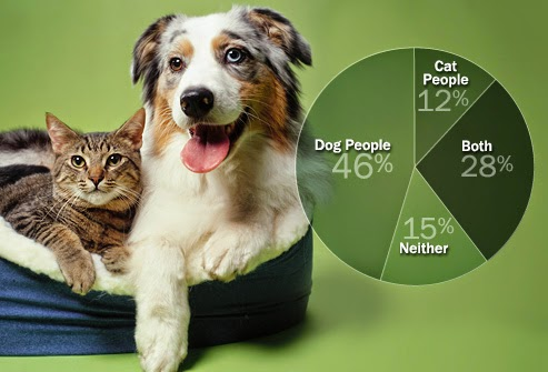 a comparison of the differences of dog people and cat people